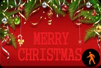 Beautiful Wishes Of Christmas For Friends Background