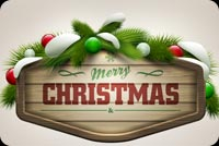 Beautiful Christmas Greeting Background