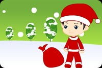 Here Comes Santa Claus Background