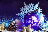 Purple Christmas Background Background
