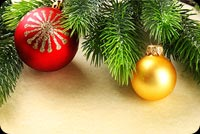 Christmas Fir Tree Branches Background