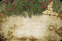 Vintage Christmas Fir Tree Background