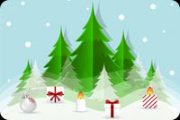 Nice Christmas Trees Background