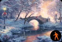 Christmas Bridge Background