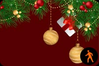 Animated Lovely Christmas Ornaments Background