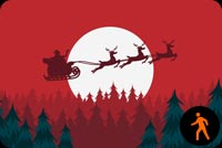 Sleigh Through The Night Sky Background