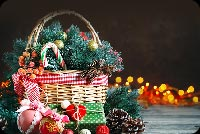 Christmas Basket Background