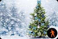 Animated Christmas Tree Snow Effect Background