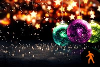Animated Merry Christmas & Happy New Year Background