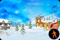 Animated Merry Christmas Santa With Snow Effect Background