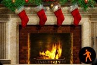 Animated Beautiful Christmas Fireplace Background