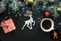 Animated Christmas Hot Coffee Background