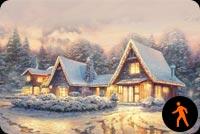 Animated Christmas Lodge Background