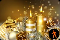Animated Gold Christmas Candles Background