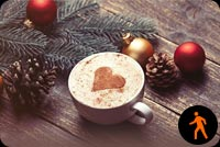 Animated Christmas Coffee Lover Background