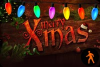 Animated Merry Xmas Lights Background