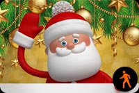 Animated Santa Waving Background