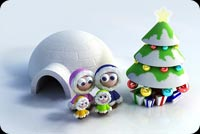 Cute Christmas Family Background