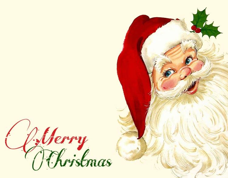 christmas email stationery stationary santa merry christmas - Merry Christmas Email