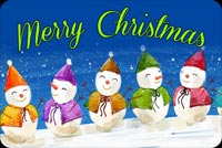 Snowmen Merry Christmas Background