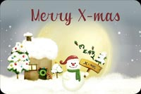 Snowman Merry X-mas Sign Background