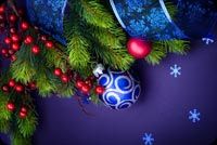 Purple Christmas Theme Background