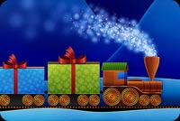 Christmas email backgrounds. Christmas Train