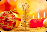 Peace & Joy On Christmas Background