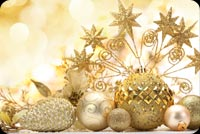 Golden Christmas Greetings Background