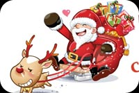 Christmas email backgrounds. Santa Claus' Christmas Ride