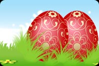 Easter email backgrounds. Eggs-tra Special Easter