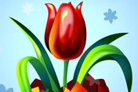 Tulip In Easter Egg Background