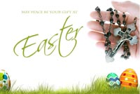 Easter email backgrounds. May Peace Be Your Gift