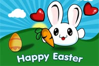 Easter Bunny Love Background