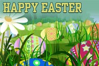 Happy Easter Eggs Hunting Background