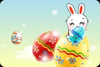 Easter email backgrounds. Happy Easter Bunny