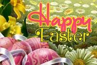 Easter email backgrounds. Bright Spring And Happy Easter
