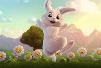 Dancing Easter Bunny Background