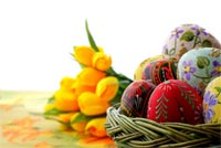 A Beautiful Easter Basket Background