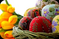 Easter email backgrounds. Basket Of Wishes