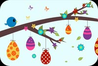 Easter Branch Background