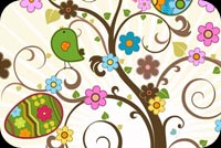 Easter email backgrounds. Springing Easter Wishes