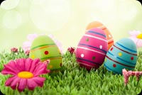 Easter email backgrounds. Bright Easter