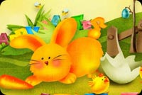 Beautiful Easter Card For Everyone Background