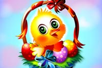 Cute Easter Chick Background