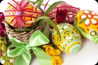 A Basket Full Of Easter Background