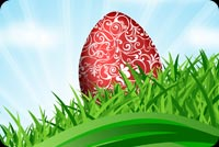 Easter email backgrounds. Easter Egg In The Grass