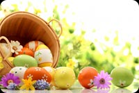 Easter Bright With Happiness Background