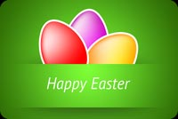 Sweet Easter Eggs Theme Background