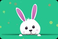 Easter email backgrounds. Cute Easter Bunny